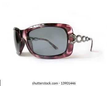 glamour femininity sunglasses, isolated, close-up