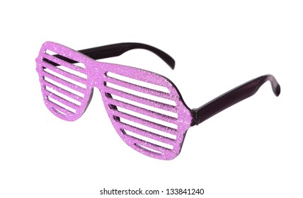 glamour glasses glittering and pink isolated on white background 0e6686645bbf