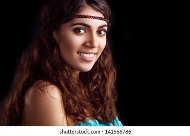 Glamour portrait of beautiful woman