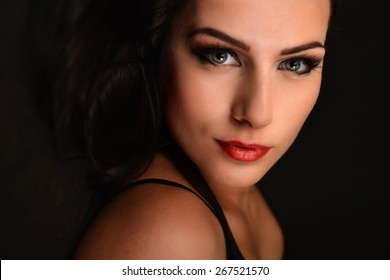 Glamour portrait of beautiful woman model