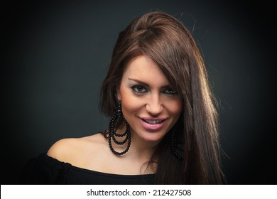Glamour portrait of a beautiful young woman