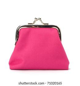 Glamour purse  isolated on white background