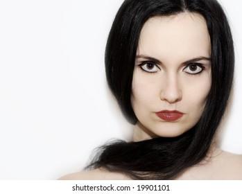 glamour shot of a black hair girl