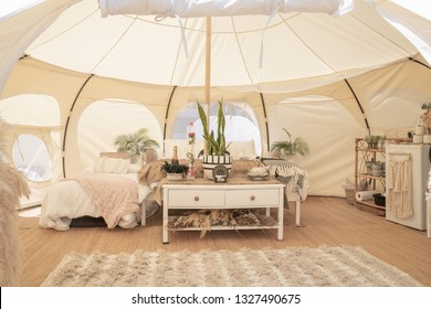 Glamping tent and set up at Mount Maunganui