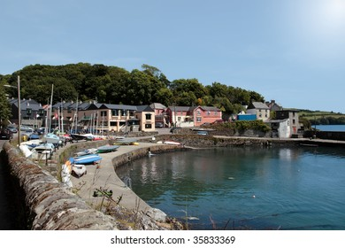 glandore village on the west coast of ireland in summer