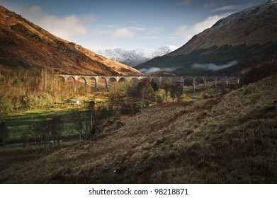 Glanfinnan Viaduct as seen in the harry potter film.