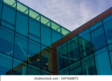 Glas facade of a high rise office building. - Shutterstock ID 1497668873