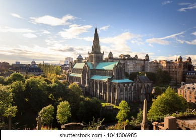 Glasgow Cathedral in a sunny day