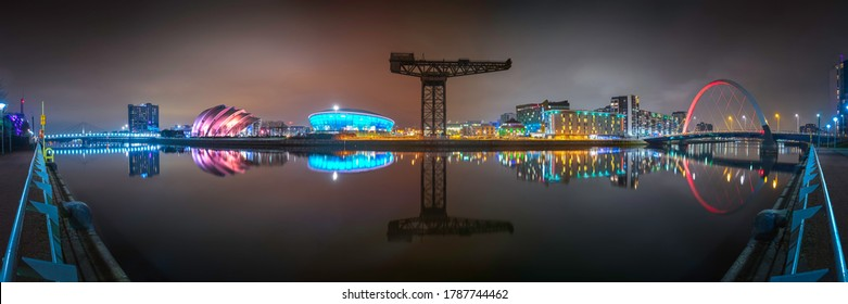 Glasgow Cityscape, looking north over the River Clyde