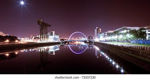 Glasgow Clyde, Arc Bridge Panorama