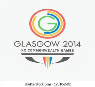 GLASGOW - JUNE, 2014:  Glasgow 2014 Commonwealth Games Official Logo. Glasgow will be proud host of 2014 Commonwealth Games from 23 July -?? 3 August 2014.