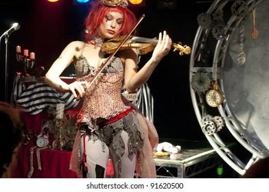 GLASGOW - MARCH 10: Emilie Autumn performs on March 10, 2010 in Glasgow, Scotland.