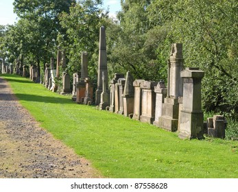 The Glasgow necropolis, Victorian gothic garden cemetery in Scotland