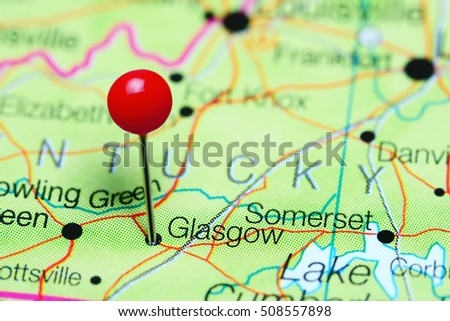 Kentucky On Usa Map.Glasgow Pinned On Map Kentucky Usa Stock Photo Edit Now 508557898