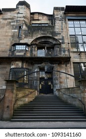 Glasgow, Scotland 10/21/07 Glasgow School of Art, Mackintosh Building facade