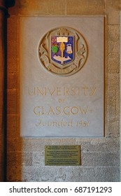 GLASGOW, SCOTLAND -11 JUL 2017- View of the campus of the University of Glasgow, a major public research and teaching university founded in 1451. Notable alumni include economist Adam Smith.