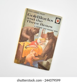 GLASGOW, SCOTLAND - 15 JANUARY 2015: Goldilocks and the Three Bears - A Ladybird 'Easy Reading' Book from the Series 606D (Well-loved tales) series of children's reading books, published 1964 - 1990s
