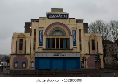 Glasgow, Scotland - 21 March 2018: The O2 Academy Glasgow, formerly the Carling Academy Glasgow located on Eglinton Street in the Gorbals (Laurieston) area of Glasgow.