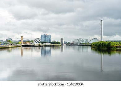GLASGOW, SCOTLAND - AUGUST 27: Clyde River view on August 27th, 2013 in Glasgow, Scotland, UK