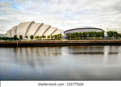 """GLASGOW, SCOTLAND - AUGUST 28: The """"Armadillo"""" and Hydro Concert Centre, on August 28th, 2013 in Glasgow, Scotland, UK"""