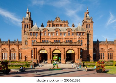 GLASGOW, SCOTLAND - JULY 17: Kelvingrove Art Gallery and Museum in Glasgow before  the 2014 Commonwealth Games on July 17, 2014 in Glasgow.