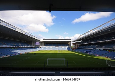 GLASGOW, SCOTLAND - JULY 18, 2019: General view of the venue pictured prior to the 2nd leg of the 2019/20 UEFA Europa League First Qualifying Round game between Rangers FC and St Joseph's.