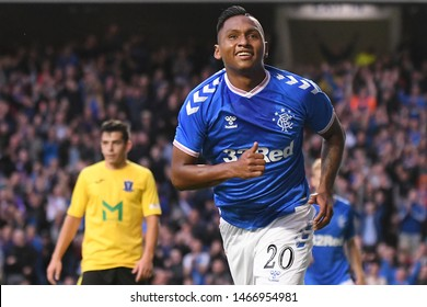 GLASGOW, SCOTLAND - JULY 18, 2019: Alfredo Morels celebrates after a goal scored during the 2019/20 UEFA Europa League First Qualifying Round game between Rangers FC and St Joseph's.