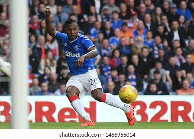 GLASGOW, SCOTLAND - JULY 18, 2019: Alfredo Morelos of Rangers pictured during the 2nd leg of the 2019/20 UEFA Europa League First Qualifying Round game between Rangers FC and St Joseph's.