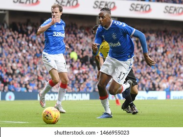 GLASGOW, SCOTLAND - JULY 18, 2019: Joe Aribo of Rangers pictured during the 2nd leg of the 2019/20 UEFA Europa League First Qualifying Round game between Rangers FC and St Joseph's.