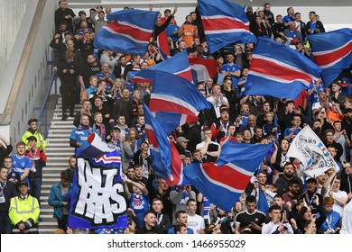 GLASGOW, SCOTLAND - JULY 18, 2019: Rangers ultras pictured during the 2nd leg of the 2019/20 UEFA Europa League First Qualifying Round game between Rangers FC and St Joseph's at Ibrox Park.