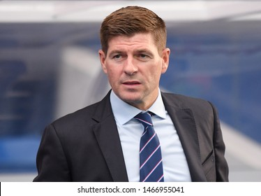 GLASGOW, SCOTLAND - JULY 18, 2019: Rangers manager Steven Gerrard pictured prior to the 2019/20 UEFA Europa League First Qualifying Round game between Rangers FC and St Joseph's FC.