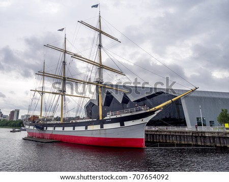 e1bf82c91 GLASGOW SCOTLAND JULY 22 Glenlee Sailing Stock Photo (Edit Now ...