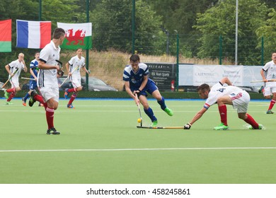 Glasgow, Scotland -  July 23rd 2016. EuroHockey Youth championships held at the Glasgow National Hockey Centre. Match between Scotland and France U18 men.