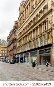 GLASGOW, SCOTLAND - JUNE 03, 2015: The Grosvenor Building in the city centre Gordon Street in Glasgow Scotland.