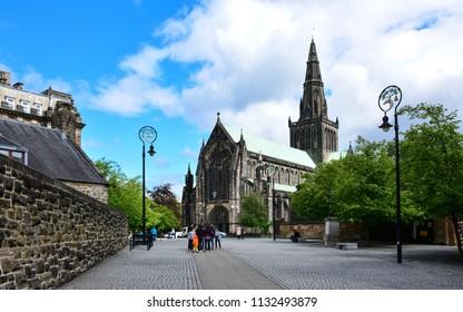 Glasgow / Scotland — June 20, 2018: The Cathedral of Saint Mungo (High Kirk of Glasgow), Glasgow