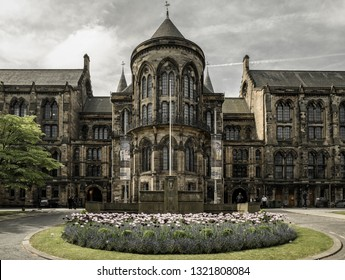 GLASGOW, SCOTLAND - MAY 27: Historic building of university of Glasgow on May 27, 2018 in Glasgow