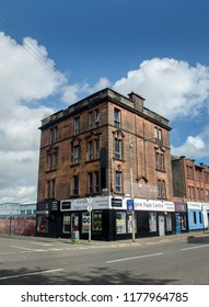 GLASGOW, SCOTLAND - SEPTEMBER 12th 2018: An old building that was built in 1905 in Wallace street, Glasgow.