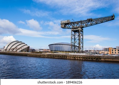 Glasgow, Scotland, UK, 24th March, 2014: View of the newly opened Hydro concert arena and SECC exhibition centre with Finnieston crane on the side.