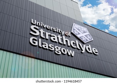 Glasgow, Scotland, UK - Sept 25. 2018 : University of Strathclyde Glasgow Building