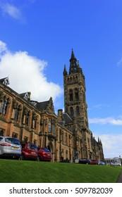 Glasgow - September 16: Gilbert Scott Building scenery, the university of Glasgow, on September 16, 2016, Glasgow, UK.