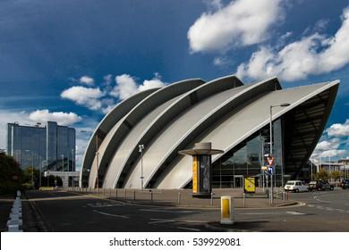 GLASGOW - SEPTEMBER 22, 2012: Clyde Auditorium in Glasgow, Scotland, UK
