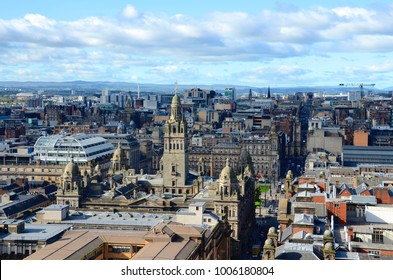 The Glasgow skyline looking towards George Square and the city chambers