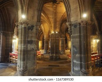 GLASGOW, UK - CIRCA JUNE 2018: Glasgow cathedral aka High Kirk or St Kentigern or St Mungo