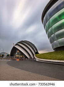GLASGOW, UNITED KINGDOM - SEPTEMBER 10, 2017: Modern Buildings SEC Armadillo. The SEC Armadillo (originally known as the Clyde Auditorium) is an auditorium located in Glasgow, Scotland.