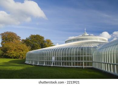 Glasgow's newly refurbished Kibble Palace in autumn sunshine