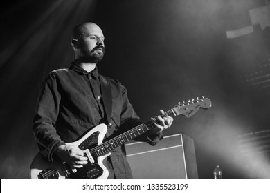 Glasgow/Scotland - 02.03.2019: Andy MacFarlane of The Twilight Sad Glasgow Barrowland Ballroom sold out concert