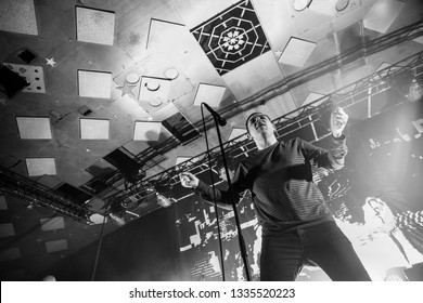 Glasgow/Scotland - 02.03.2019: James Graham of The Twilight Sad Glasgow Barrowland Ballroom sold out concert