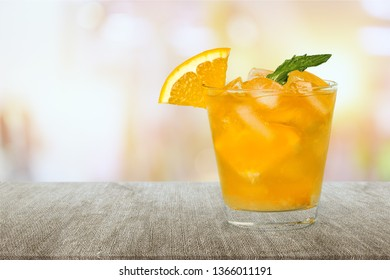 Glass of alcohol  cocktail on background