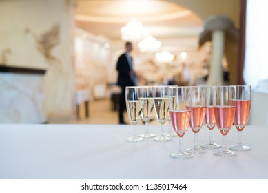glass of alcohol prepared for party