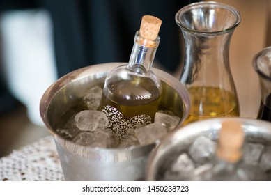 glass of alcohol - wine or hooch prepared for party